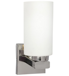Lime Light White Glass And Wood Wall Mounted Light - 1498157