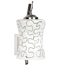 Lime Light White Glass And Wood Wall Mounted Light - 1498200