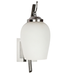 Lime Light White Glass And Wood Wall Mounted Light - 1498215