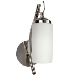 Lime Light White Glass And Wood Wall Mounted Light - 1498178