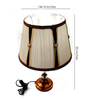 Aleta Table Lamp in Brown and Off white by Amberville