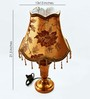 Lightspro Brown Fabric Table Lamp