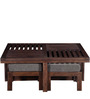 Woodinville Coffee Table Set in Provincial Teak Finish by Woodsworth