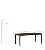 Dvina Six Seater Dining Table in Provincial Teak Finish by Woodsworth