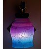 Lime Light Pink & Blue Glass & Wood Wall Lamp