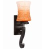 Lime Light Orange & White Glass & Wood Wall Lamp