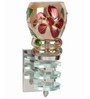 Lime Light Red & Gold Glass & Wood Wall Lamp
