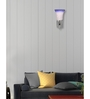 Lime Light White and Blue Glass and Wood Wall Mounted Light