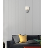 Lime Light White and Silver Glass Wall Mounted Light