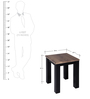 Linda Coffee Table with Two End Tables in Brown Colour by Evok