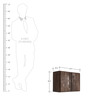 Linea Wall Bar Cabinet in Dark Walnut Colour with Sand Blasted Doors by DwellDuo