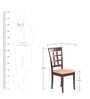 Lisa Dining Chair (Set of 2) in Indian Mahogany Finish by Godrej Interio