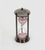 Little India Brown Brass Real Antique Royal 3 Minute Sand Timer