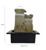 Little India Brown Polystone Ancient Vessel Theme Electric Motor LED Glowed Indoor Water Fountain