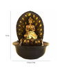 Little India Brown Polystone Lord Buddha Electric Motor LED Glowed Indoor Water Fountain