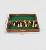 Little India Brown Wooden Designer Chess Board Handicraft Gift
