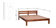 Lomira Queen Bed in Honey Oak Finish by Woodsworth