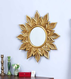 Lobash Round Mirror Frame In Gold By Bohemiana