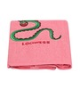 Imagica Lochness Applique Coral Bath Towel
