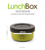 Lock&Lock Multi Round Dish Lunch Box one divider & one without divider Green