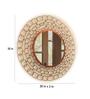 Logam Brown Glass Antique Weave Round Wall Mirror