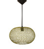 Logam Golden Iron Orb Hanging Lamp