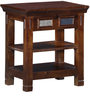 Lanford  Bed Side Table In Provincial Teak Finish by Amberville