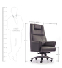 Lord High Back Chair in Grey Colour by Durian