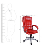 Lovely Executive Hi Back Red in Red Color By VJ Interior