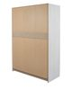 Lovely Three Door Wardrobe in Light Beige and Pink Finish by Alsapan