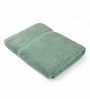 Lushomes Green Cotton 27 x 55 Bath Towel