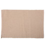Lushomes Beige Cotton Ribbed Placemats - Set of 6