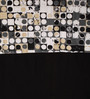 Lushomes Black Cotton 108 x 54 Inch Coins Printed Bloomberry Long Door Curtain with 8 Eyelets & Printed Tiebacks - Set of 2