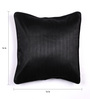 Lushomes Black Polyester 16 x 16 Inch Twinkle Star Cushion Covers with Cord Piping - Set of 2