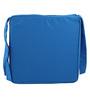 Lushomes Blue Cotton & Foam 16 x 16 Inch Half Panama 4 Strings Chair Pads - Set of 2