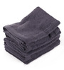 Lushomes Blue Cotton 12 x 12 Face Towel - Set of 6