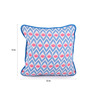 Lushomes Blue Cotton 12 x 12 Inch Diamond Printed Cushion Covers with Co-Ordinating Cord Piping - Set of 2