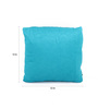 Lushomes Blue Polyester 12 x 12 Inch Embossed Blackberry Cushion Cover - Set of 2