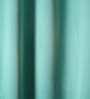 Lushomes Blue Polyester 60 x 54 Inch Plain Blackout Windows Curtain with 8 Metal Eyelets - Set of 2