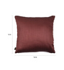 Lushomes Brown Polyester 16 x 16 Inch Cushion Covers - Set of 5