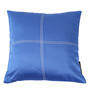 Lushomes Fire Blue Blackout Polyester 16 x 16 Inch Cushion Cover with Artistic Stitch - Set of 2