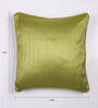 Lushomes Ginger Green Polyester 16 x 16 Inch Twinkle Star Cushion Covers with Cord Piping - Set of 2