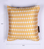 Lushomes Gold and White Polyester 16 x 16 Inch Jacquard Cushion Covers - Set of 2