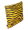 Lushomes Golden Yellow Polyester 16 x 16 Inch Zebra Skin Printed Cushion Covers - Set of 5
