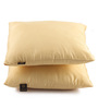 Lushomes Lemon Yellow Polyester 12 x 12 Inch Bright & Fluffy Cushion Insert - Set of 2
