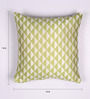 Lushomes Light Green Polyester 16 x 16 Inch Jacquard Cushion Covers - Set of 2