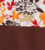 Lushomes Multicolour Cotton 90 x 54 Inch Leaf Printed Bloomberry Door Curtain with 8 Eyelets & Printed Tiebacks - Set of 2