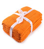 Lushomes Orange Cotton 28 x 54 Bath Towel - Set of 10