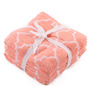 Lushomes Pink Cotton 12 x 12 Face Towel - Set of 8