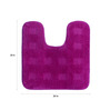 Lushomes Pink Polyester Bath and Toilet Mat - Set of 2